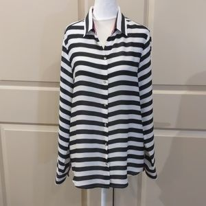Black and white button down - AH007